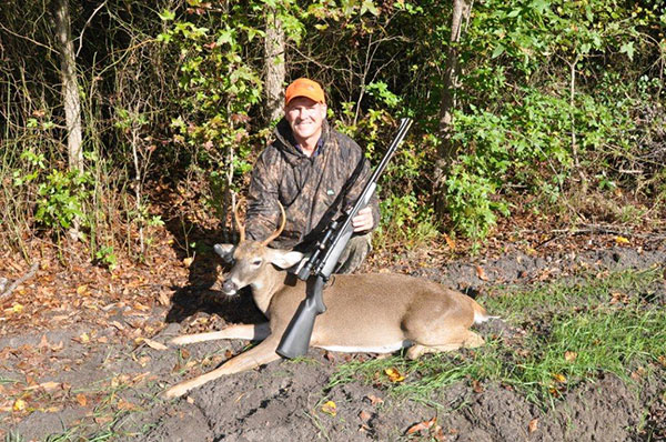 Mike took this buck at a coastal game land with a Savage 110 MLS during the muzzleloader season. The range exceeded 100 yards.