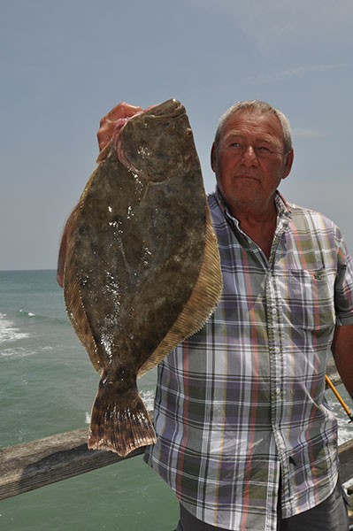 Doug Shores with a nice flounder from Kure Beach