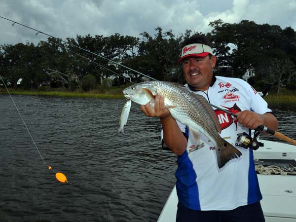 Capt Jot Owens with Redfish