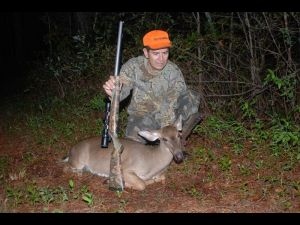 David Franklin with a doe taken with a muzzleloader- WRC per