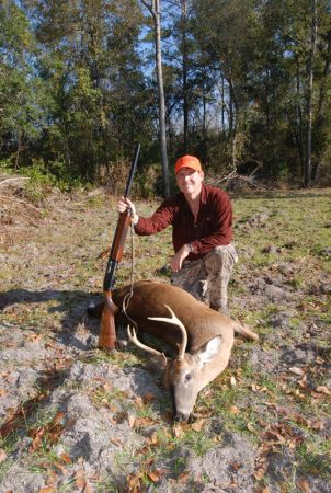 MIke's 6 pointer, shotgun rifle 2008 018